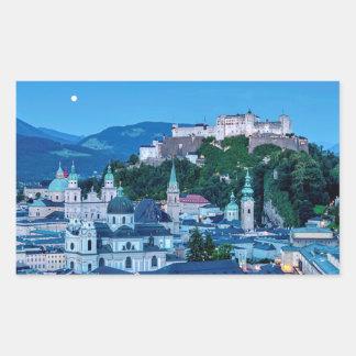 Adesivo Retangular Cidade de Salzburg, Áustria