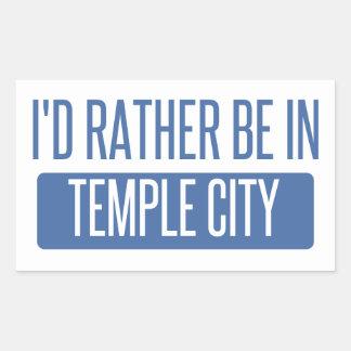 Adesivo Retangular Cidade do templo