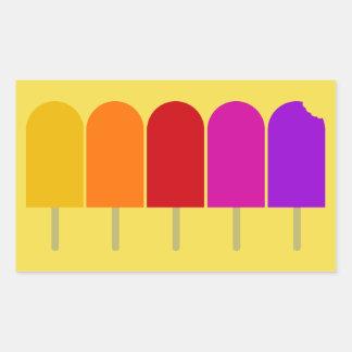 Adesivo Retangular Cinco Popsicles
