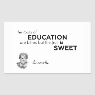 Adesivo Retangular CITAÇÕES: Aristotle: Raizes da educação