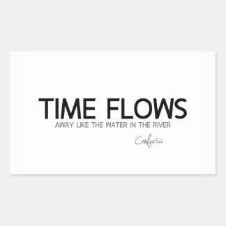 Adesivo Retangular CITAÇÕES: Confucius: O tempo flui afastado
