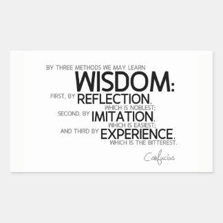 Adesivo Retangular CITAÇÕES: Confucius: Sabedoria: reflexão, de
