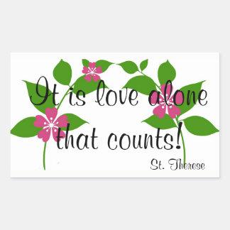 Adesivo Retangular Citações do St. Therese no amor