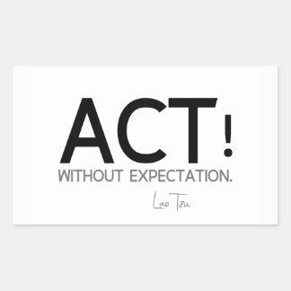 Adesivo Retangular CITAÇÕES: Lao Tzu: Ato!