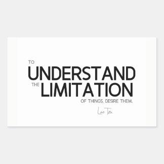 Adesivo Retangular CITAÇÕES: Lao Tzu: Limitação das coisas