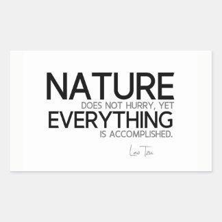 Adesivo Retangular CITAÇÕES: Lao Tzu: Natureza, realizada
