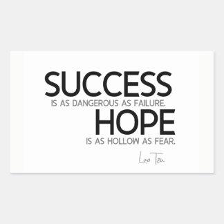 Adesivo Retangular CITAÇÕES: Lao Tzu: Sucesso, esperança