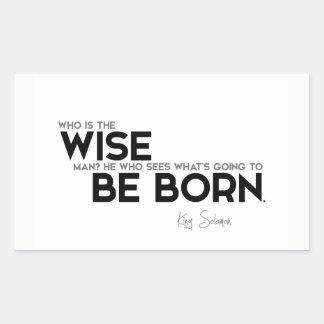 Adesivo Retangular CITAÇÕES: Rei Solomon: Quem é o homem sábio?