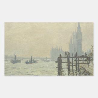 Adesivo Retangular Claude Monet - a Tamisa em Westminster