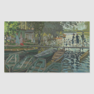 Adesivo Retangular Claude Monet - Bathers no La Grenouillere