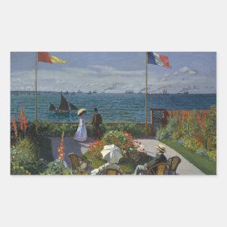 Adesivo Retangular Claude Monet - jardim em Sainte-Adresse
