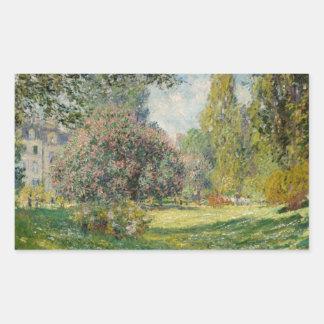 Adesivo Retangular Claude Monet - paisagem: O Parc Monceau