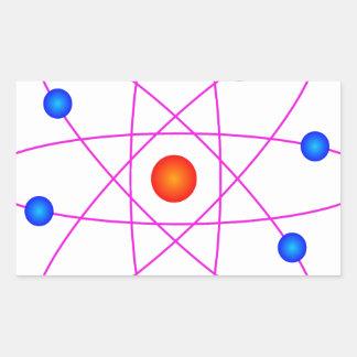 Adesivo Retangular clipart modelo do vetor do átomo