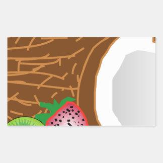 Adesivo Retangular Cocos tropicais do quivi