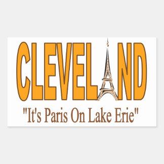 Adesivo Retangular Colagem com Cleveland
