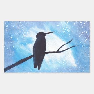 Adesivo Retangular Colibri na noite