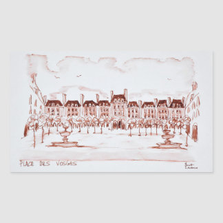 Adesivo Retangular Coloque DES Vosges | Marais, Paris