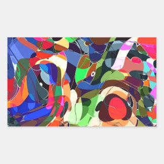 Adesivo Retangular Colore o mashup