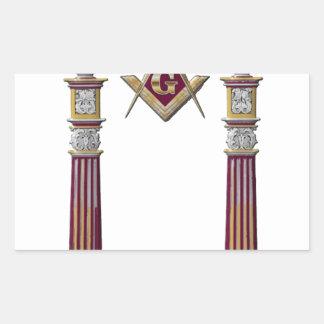 Adesivo Retangular Colunas maçónicas