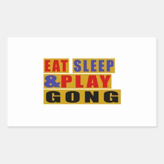 Adesivo Retangular Coma o GONGO do sono e do jogo