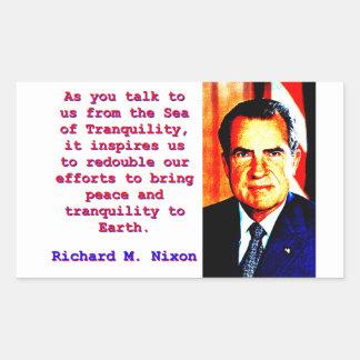 Adesivo Retangular Como você nos fala - Richard Nixon