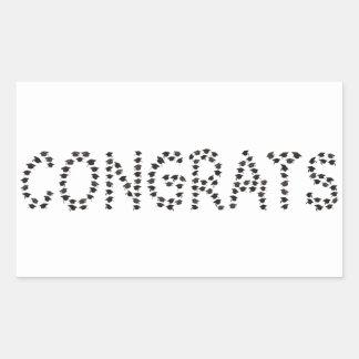 Adesivo Retangular Congrats ao formando