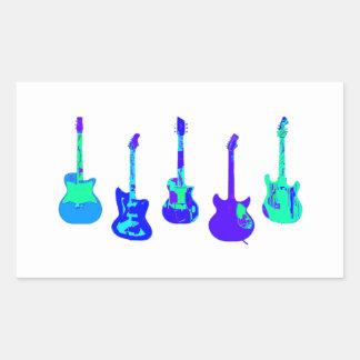 Adesivo Retangular Conjunto da guitarra