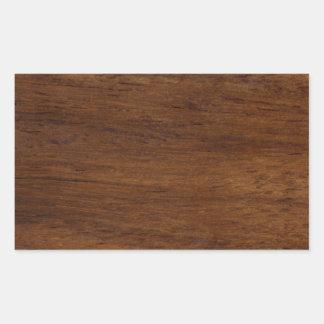 Adesivo Retangular Construção áspera da textura de madeira
