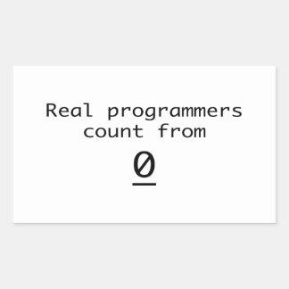 Adesivo Retangular Contagem real dos programadores de 0