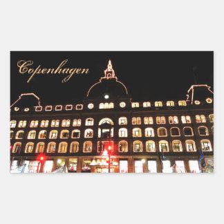 Adesivo Retangular Copenhaga, Dinamarca na noite