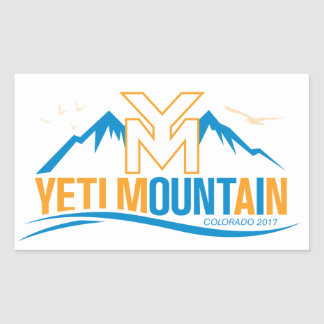 Adesivo Retangular Cor de Colorado 2017 da montanha de YetiMan