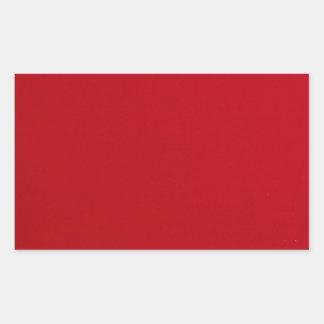Adesivo Retangular Cor vermelha lisa