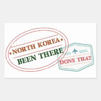Adesivo Retangular Coreia do Norte feito lá isso