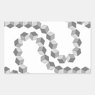 Adesivo Retangular Corrente de bloco