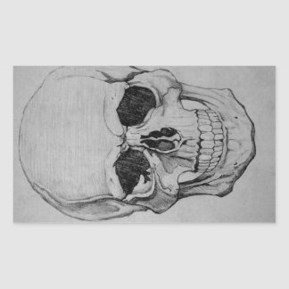 Adesivo Retangular crânio
