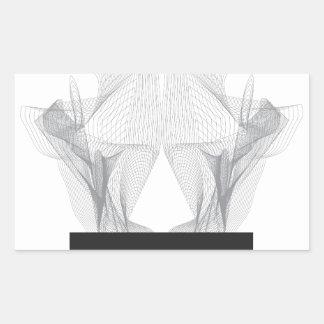 Adesivo Retangular Crânio abstrato do urso