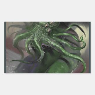 Adesivo Retangular Cthulhu cavalo-força de aumentação Lovecraft