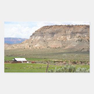 Adesivo Retangular Cultivando o país e as colinas, Utá do sul