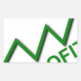 Adesivo Retangular Curva do lucro