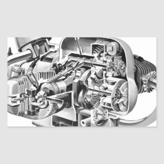 Adesivo Retangular Cutaway do Airhead
