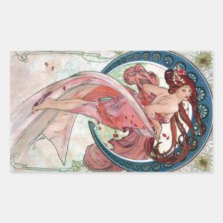 Adesivo Retangular Dança de Alfons Mucha 1898
