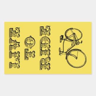 Adesivo Retangular Dar um ciclo o design, vive para montar