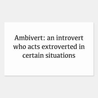Adesivo Retangular Definição de Ambivert