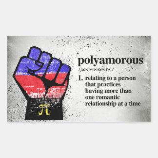 Adesivo Retangular Definição de Polyamorous - termos definidos de