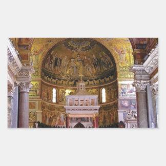 Adesivo Retangular Dentro da igreja yeah