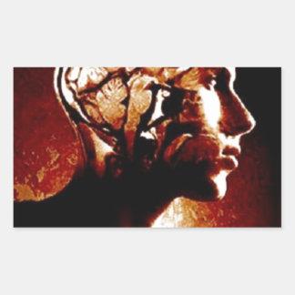 Adesivo Retangular Dentro de minha cabeça, mostrando a atividade de