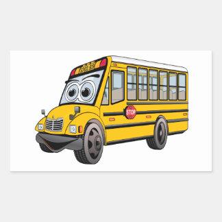Adesivo Retangular Desenhos animados 2017 do auto escolar