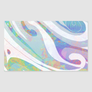 Adesivo Retangular Design abstrato das ondas das cores