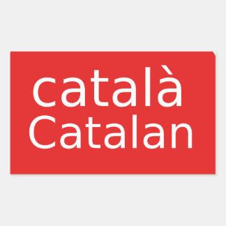 Adesivo Retangular Design Catalan da língua