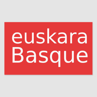 Adesivo Retangular Design da língua Basque
